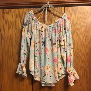 i Jeans by Buffalo Flowered blouse